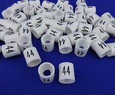 #44 Mini Slip On Size Markers Bag of 50 Retail Supply Hanger Garment Hanger