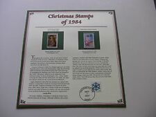 20 Cent Madonna and Child and Santa Claus Crayon Drawing 1984 Christmas Stamps