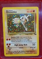 1999 Pokemon HITMONLEE Fossil Set HOLO Foil Card 7/62 NM Rare LOOK!