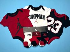 AIR JORDAN BABY BOYS 9-pc GIFT Set: Bodysuits/Rompers, & Socks 9-12 Months