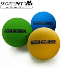 Sportspet High Bounce Dog Toy - Hand Stitched - Durable - Pack of 3