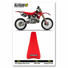 1993-1994 HONDA CR 125 Red FULL GRIPPER SEAT COVER MADE BY Enjoy MFG, Quality!