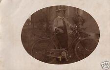 11574/ Originalfoto 9x13cm, Dame mit Fahrrad, ca. 1910