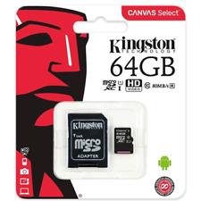MicroSD HC Kingston SDCS / 64 GB Classe 10 + Adattatore Fino A 80 MB/S