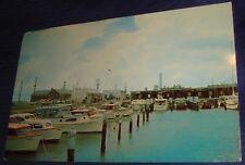 SE422 Vtg PostCard Morehead City Yacht Basin FL Wood Boats Smith Markham ON