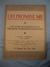 Oh Promise Me Sheet Music Vintage 1917 R De Koven Clement Scott Voice Piano (O)