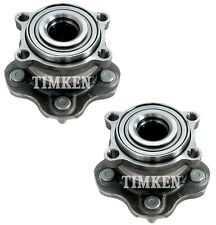Pair Set of 2 Rear Timken Wheel Bearing Hub Assies Kit for EX35 G25 M37 Q50 RWD
