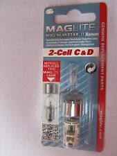 Maglite LMXA201 Magnum Star II Xenon 2 Cell C or D Mag Bulb   NEW