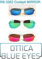 Occhiali da Sole RAYBAN COCKPIT METAL 3362 MIRROR Specchio Ray Ban Sunglasses