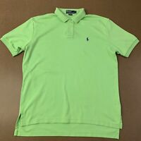 Polo Ralph Lauren Mens Size Large Lime Green Short Sleeve Polo **spots**