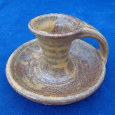 Vintage Hand Thrown Studio Pottery Stoneware Candle Holder Ben Barker c 1970s