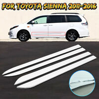 4x Car Door ABS Chrome Body Side Moulding Trim Cover For Toyota Sienna 2011-2016
