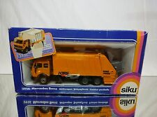 SIKU 2926 MERCEDES BENZ REFUSE TRUCK - YELLOW 1:55 - GOOD IN BOX