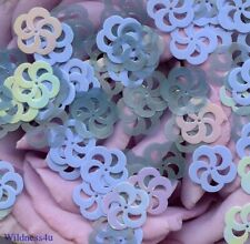 Lilac AB Blues FRENCH SEQUINS Flower Lace Spinning WHEELS PAILLETTES SPACERS Lot