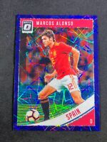 2018-19 Panini Marcos Alonso Optic Purple Velocity /125 Spain Chelsea Espana