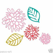 Sizzix sizzlits OLIVIA leaves & flowers die set of 5 for big shot machine etc.