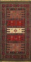 Geometric Sumak Kilim Hand-woven Nomad Area Rug Home Decor Oriental Carpet 3'x6'