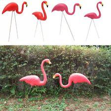 Artificial Flamingo Garden Ornament 2 Pcs Lawn Figurine Yard Decor Home Statue