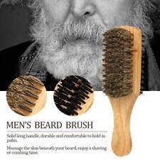 Mens Boar Bristle Hair Brush -Natural Wooden Wave Brush Styling Beard Hair brush