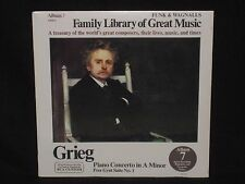 GRIEG ~ Piano Concerto Peer Gynt No 1 (SEALED) Funk & Wagnalls ~ US. RCA CUSTOM