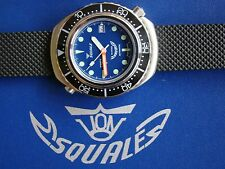 SQUALE DIVERS WATCH 22MM BLK RUBBER REPLACEMENT BAND STRAP DEPLOYMENT WATCH BAND