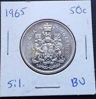 1965 Canada Silver 50 Cent Half Dollar Coin ***Mint Condition*** 80% Silver
