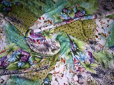 Surrealistischer Druck mit Blumen Grün/Mehrfarbig/Bunt in 100% Polyester