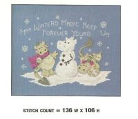THE SNOWBALL FIGHT   CROSS STITCH PATTERN  ONLY   PY - EYR