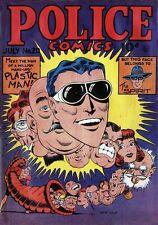 Police Comics #20 Photocopy Comic Book, Plastic Man, The Spirit, Phantom Lady