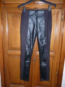 ZARA Jegging leggings S 34/36 faux cuir simili daim noir