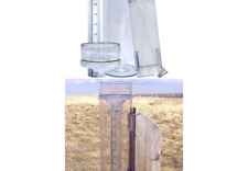 """Stratus Precision Rain Gauge with Mounting Bracket (14"""" All Weather) Full Size"""