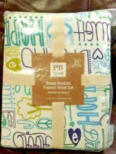 Pottery Barn Teen Sweet Dreams Xl Twin Flannel Sheet Set Nip