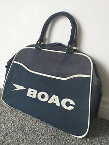 Vintage BOAC flight bag 1960-1970s British overseas airways corporation England