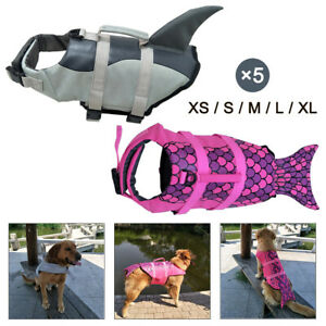 Pet Dog Life Jacket Swimming Suit Puppy Safety Vest with Pull Handle Summer