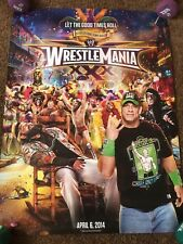 WWE Wrestlemania XXX 30 Poster RARE Limited Edition WWF New Orleans