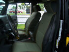 Jeep Wrangler Jk 2007-10 2doors Blackcharcoal S.leather Custom Front Seat Cover
