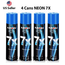 4 Cans Neon Butane Gas 300ml 7x Refined Filtered Lighter Refill Fuel