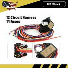 12v 24 Circuit 14 Fuse Street Hot Rat Rod Wiring Harness Wire Kit Complete