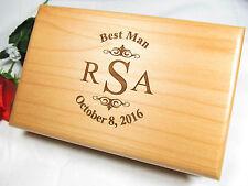 Personalized Engraved Valet Box Groomsman Groomsmen Gifts Keepsake Monogram