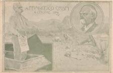 C2427) A FRANCESCO CRISPI 4 OTTOBRE 1899, I MORTI DI ADUA.