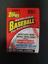 1991 TOPPS BASEBALL CELLO PACK (Sealed 34 Cards) PSA 10 CHIPPER JONES (RC) ???