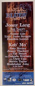 Santa Cruz Blues Festival Concert Poster 2001 Autographed