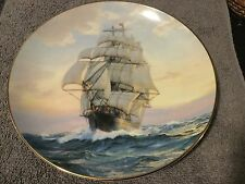 Young America, Homeward Bound 22kt Gold Trimmed Plate .3rd in Clipper Series