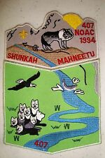 Oa Shunkah Mahneetu Lodge 407 Grand Teton 2-Patch Wolf 1994 Noac Delegate White