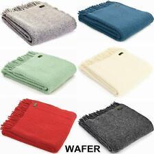 TWEEDMILL TEXTILES THROWS 100% Wool Sofa Bed Blanket Rug WAFER TREETOP RAINBOW