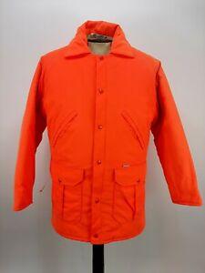 Vintage Carhartt Blaze Orange Hunting Jacket Coat Parka Mens Size Medium