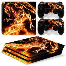 Sony PS4 Playstation 4 Pro Skin Aufkleber Schutzfolie Set - Dragon Motiv