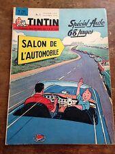 journal tintin 780 France (1963) couv Hergé salon de l'auto avec chèque tintin