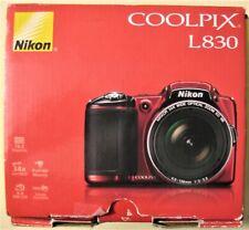 Nikon COOLPIX L830 16.0MP Digital Camera, Red, EUC