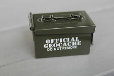 Geocaching Micro Ammo Can Box Mini Munitionskiste Metall Militär Kiste m.Logbuch